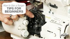 Want to learn how to use a serger? Well this premium video is perfect for you. Find out the benefits of using a serger and see how fun it can be. #sew #LetsSew