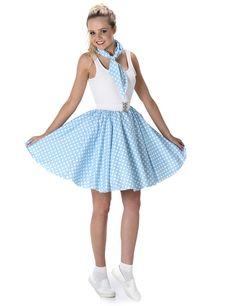 0795f6d80137 Costume anni 50 blu a pois donna: Questo costume è composto da una gonna blu