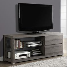 """$258 Monarch Specialties Inc. TV Stand. Overall: 24"""" H x 60"""" W x 18"""" D"""