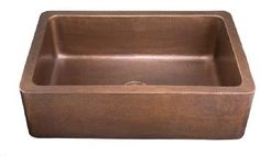 "Limited Editions 33"" Lucca Farmhouse Apron Front Copper Kitchen Sink"