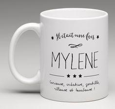 Mug cadeau au prénom de votre choix. Un cadeau unique et utile. Vous avez la possibilité de décrire la personne avec quelques mots ou par une phrase courte.