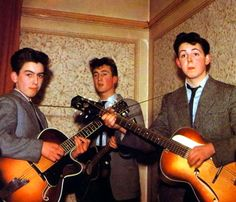 George Harrison (Age 14), John Lennon (Age 16) & Paul McCartney (Age 15) The Quarry Men 1957