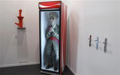 "Saatchi Gallery    This work by Eugenio Merino, featuring Franco, Spain's former dictator, in a fridge, is dividing visitors to the ARCO art fair in Madrid. The artist says: ""We don't stop talking about him, debating about him. A fridge is where things are kept alive and fresh."""