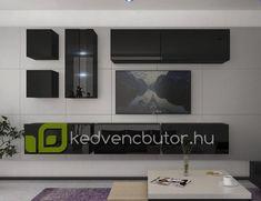 Modern nappali bútor NEXT AN280-17B-HG20-1BA Modern nappali bútor NEXT AN280 egy falra szerelhető bútor szett, amiben elegánsan tárolhatjuk kikapcsolódásunk kellékeit. 35 cm-es mélysége miatt nem foglal el jelentős helyet a szobából.Magasfényű felülete miatt szép kontrasztot ad egy egyszerű festett falfelülettel, vagy tapétávalMéretek: 284 x 206 x 35 cmSzínválaszték:magasfényű feketeLengyel bútor. Garancia 12 hónapKedves Vásárló!FONTOS INFORMÁCIÓ!Felhívjuk szíves figyelmét, ho Flat Screen, Led, Blood Plasma, Flatscreen, Dish Display