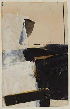 loverofbeauty: Franz Kline: Untitled Collage (1950s)