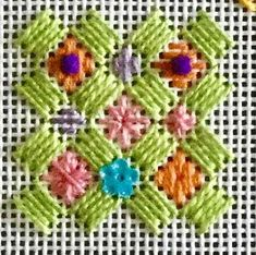Fill Stitches for Caswell Lattice! Machine Embroidery Projects, Embroidery Patterns Free, Hand Embroidery Stitches, Embroidery Techniques, Cross Stitch Patterns, Needlepoint Stitches, Needlepoint Kits, Needlepoint Canvases, Needlework