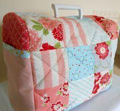 The Patchsmith: Across the Pond - Sewing Machine Cover - would be good for cricut machine also!