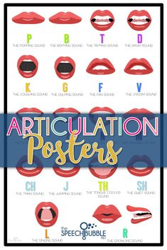 Want some speech room decor that is cute and functional? These 24x36 articulation position posters are just want you need to personalize your speech space and use as a quick reference for students.