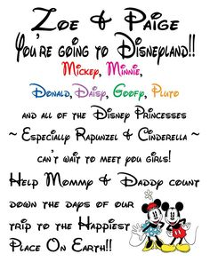 Disney Surprise Letter Template