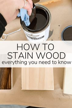 A guide to everything you need to know about how to stain wood, including examples of wood stain and sealers on different types of wood. Varathane Wood Stain, Stain Wood, Wood Stain Colors, Farmhouse Furniture, Rustic Furniture, Diy Conditioner, Diy Furniture Renovation, Transforming Furniture, Aging Wood