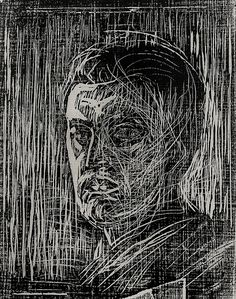 Edvard Munch, self portrait