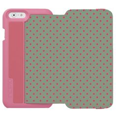 "Green/Fuchsia Incipio Watson iPhone 6 Wallet Case Incipio Watson™ iPhone 6 Wallet Case -     Spring has finally sprung so discover its harmony when fuchsia dot meets country green. Beauty has flourished! Personalize your own iPhone case on Zazzle! Click the ""Customize"" button to insert your own artwork, design, or pictures to make a one of a kind case. Try adding text using great fonts and preview your design! This easy to customize iphone 6 case has no minimum order and is made after you…"