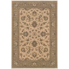 Oriental Weavers Ariana Ivory/Green Floral 2153C Area Rug