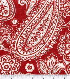 45'' Home Essentials Print Fabric-Dana/Red, , hi-res