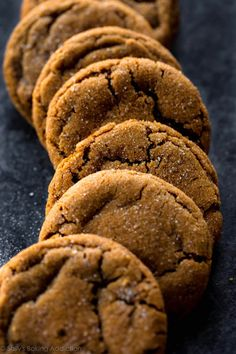 Here we go. Day 8 in Sally's Cookie Palooza! I saved one of my favorite cookies in the entire 10-cookie-recipe series for today. Molasses cookies have always been my top choice because they bring me r