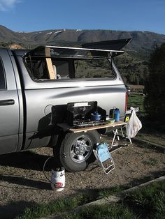 Amazing, Simple, Legless Camp Table Setup - Expedition Portal