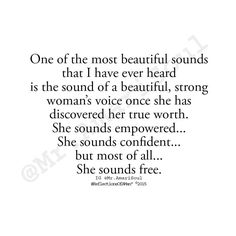 She sounds free...