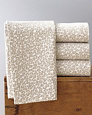 leopard flannel sheets...i want these...i would never get out of the bed