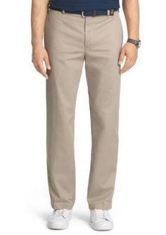 IZOD Khaki Classic Fit American Chino Flat Front Wrinkle-Free Pants