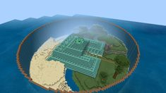 Project of draining and transforming an ocean monument : Minecraft Minecraft Park, Minecraft Building Guide, Minecraft Fan Art, Minecraft Room, Amazing Minecraft, Minecraft Survival, Minecraft Blueprints, Minecraft Designs, Minecraft Creations