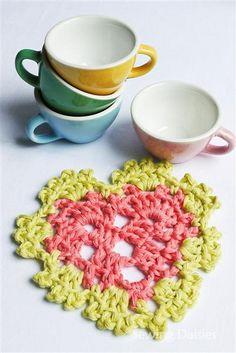 Crochet: Espresso Heart Coasters