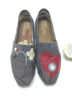 Nurse Doctor Pharmacist or any medical by StacyRheaShoes on Etsy Cheap Toms Shoes, On Shoes, Nursing Shoes, Nursing Scrubs, Nursing Outfits, Nursing Gifts, Nursing Uniforms, Toms Sneakers, Nurse Appreciation Gifts