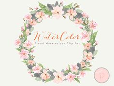 Watercolor Flower Light Pink Floral Clip art by MagicalStudio