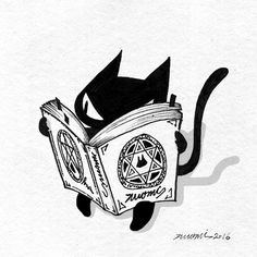 Animated gif uploaded by Terenyh. Find images and videos about gif, cat and witch on We Heart It - the app to get lost in what you love. Animation, Character Art, Character Design, Art Mignon, Black Cat Art, Arte Obscura, Creepy Cute, Cat Tattoo, Cat Drawing