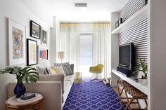 Base neutra e toques de cor em apartamento de 75 m² - Casa Vogue | Apartamentos