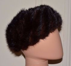 GIBBE HAT Vintage Genuine Natural Real Brown Mink Fur Fashion Hat Ladies Women's #GibbeHat #BaggyBeanie