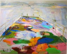 New York painter Judith Simonian charts a course through the mist on a curiously empty, fabulously colored ferry in this standout painting in the group exhibition 'Regrouping' at Edward Thorp Gallery's new Chelsea location. It's unclear what the immediate future holds on Simonian's vessel, but the journey looks amazing. (On view through Jan 28th). Judith Simonian, Ferry Boat, acrylic on canvas, 58 x 72 inches, 2016.