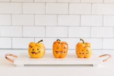 Get the recipe for Lauren Conrad's stuffed Jack-O-lantern Peppers