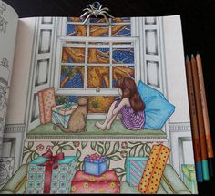 """Páči sa mi to: 22, komentáre: 3 – Stanka (@stanislava007) na Instagrame: """"I love this book. Even summer is knocking on the door, I couldn't resist to color it. I finished…"""""""