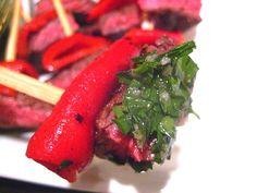 Steak Bites w/ Chimichurri Sauce. Malbec pairing.