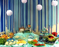 """Liddy B. and me: Sea Food at Lydia's """"Three Under the Sea Party"""""""