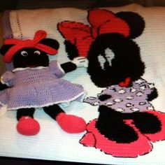 Minni Mouse Crochet Doll