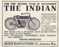 Indian Motorcycle Ad Vintage Indian Motorcycles, Vintage Bikes, Vintage Motorcycles, Custom Motorcycles, Advertising Signs, Vintage Advertisements, Indian Motors, Motorised Bike, Motorcycle Posters