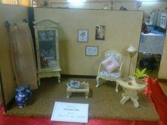 """""""Salita de estar"""" expuesta en la """"Primera exposicion de miniaturas en Argentina, mayo de 2013"""