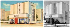 Zenith ShowroomIn addition to Philco, Chicago-based electronics pioneer Zenith in the 1930s also had a prominent showroom nearby on North Michigan Avenue. Seen above are two views of their location at the southwest corner of Michigan and Huron, currently the site of the mixed-use City Place building at 676 North Michigan. Worth noting are the odd changes made from the photograph above right of the building to the 1935 postcard, which changed the number and location of this Philip…