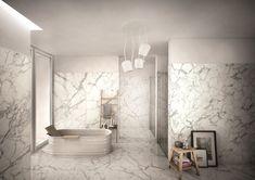 Granitkeramik Keope Elements Lux Calacatta All Klinker & Calacatta, Carrara, Ceramic Store, Bathroom Trends, Contemporary Bathrooms, Wow Products, Beautiful Bathrooms, Luxor, Bathroom Inspiration