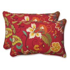 Pillow Perfect Tamariu Alfresco Valencia Over-Sized 24.5 x 16.5 in. Rectangular Outdoor Throw Pillow - Set of 2