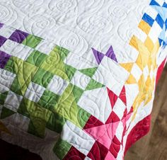 Radiant Rainbow Quilt Kit by Monique Dillard featuring Boundless Blenders Aura Fabric | Craftsy