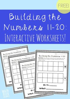 Free Building the Numbers Printable