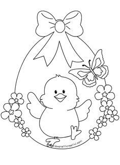Uovo di Pasqua con pulcino, idea per decorare la finestra di scuola. UOVO DI  PASQUA Decorazioni di Pasqua Materiale cartoncini colorati matita forbici