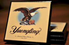 Yuengling Beer Label Coasters by CarovaCreations on Etsy, $15.00