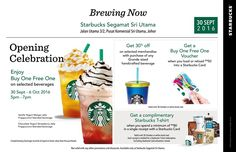 30 Sep-6 Oct 2016: Starbucks Opening Celebration