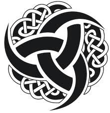 "Odin's Horns-- an old and powerful symbol of the AllFather, related to the ""triskelion"" and ""Valknut"". It consists of 3 interwoven Trinkhorns"