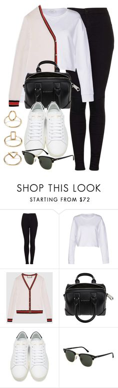 """""""Style #11562"""" by vany-alvarado ❤ liked on Polyvore featuring Topshop, Yves Saint Laurent, Gucci, Givenchy and Forever 21"""