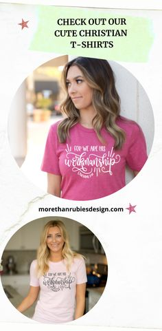 Our cute Christian women's t-shirts are Bella Canvas and are known for their awesome quality and softness. All our shirts are unisex to give that perfect fit. Our product line is dedicated to sharing the Love of Jesus. Help spread the good news! Enjoy! #christiantee #christiantshirt #christianapparel #morethanrubiesdesign