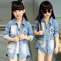 CH04660 Autumn denim child kids Korean style long sleeve coat Girly Outfits, Boy Outfits, Korean Children, Baby Girl Fashion, Kids Fashion, Girls Trench Coat, Kids Winter Jackets, Stylish Little Girls, Baby Boy Clothing Sets
